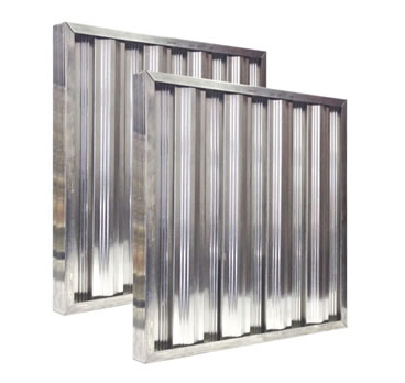 Aluminum baffle filter panel without handles