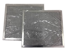 Aluminum filter packed with plastic bag