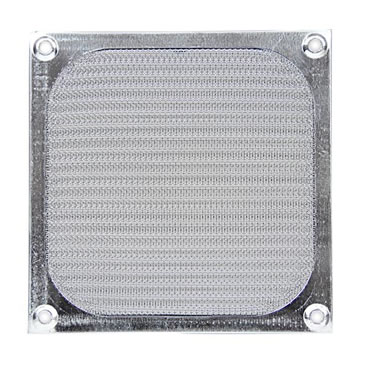 Pleated metal mesh air filter for PC case fan