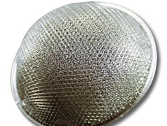 Dome aluminum air filter with expanded mesh layer