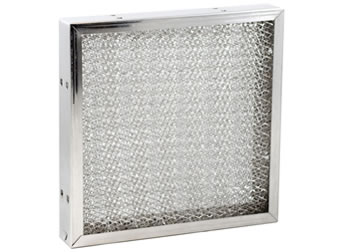 Square galvanized steel air filter for kitchen hoods