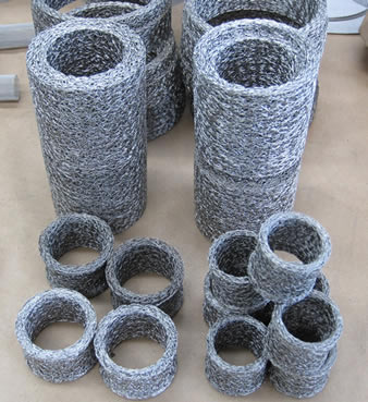 Knitted Mesh Filter Ring Cylinders For Depth Filtration