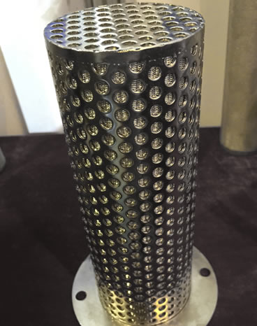 6-layer metal basket filter for depth filtration