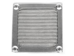 Pleated metal mesh air filter for computer case fan