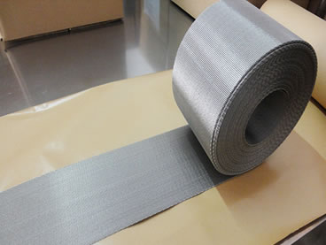 Stainless steel 304L belt mesh with woven edge