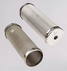 Plain sintered mesh filter cylinder for light duty filtration