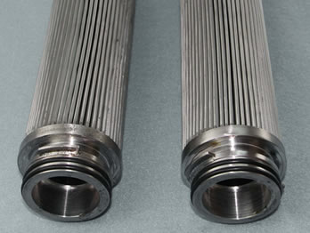 Stainless metal filter cartridge for high temperature filtration