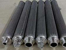 Sintered metal mesh filter cartridges with different couplings