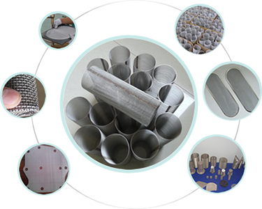 Sintered metal mesh filters available in numerous shapes & custom specifications