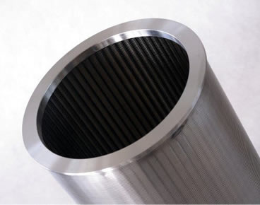 Wedge wire screen tube made from stainless steel material