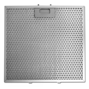 Perforated stainless steel air mesh filter with handle on one side