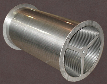 Wedge wire screen cylinder with flange on both ends
