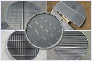 Round wedge wire screen with borders
